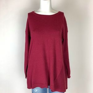 US Sweaters Oversized Cranberry Sweater Split Back